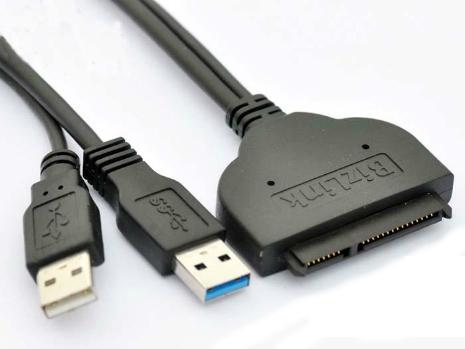 Cáp HDD gắn ngoài - 2 cáp nguồn USB 3,0 + Cáp trợ nguồn