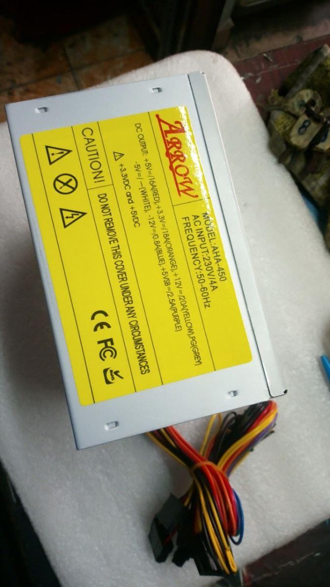 Nguồn máy tính Arrow AHA - 450W - 24 Pin, Fan 8Cm (Chất lượng)
