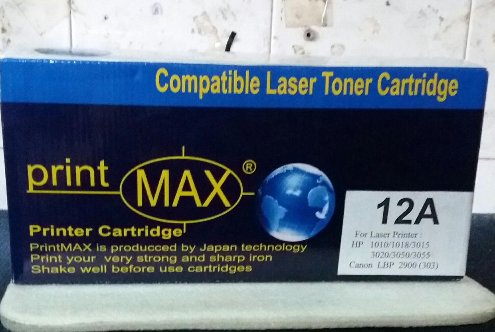 Hộp mực Cartridge PRINTMAX 12A: Dành cho máy in HP Laser 1010 / 1012 / 1015 / 1018 / 1020 / 1022 / 1022n / 1022nw / 3015 / 3020 / 3030 / 3050 / 3052 /