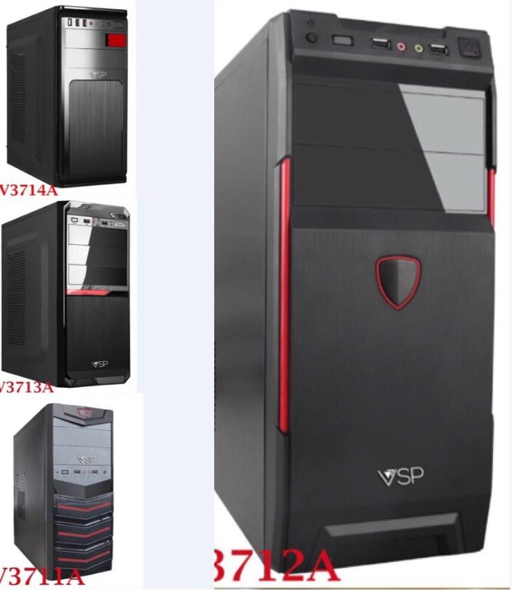 Thùng Case máy tính VISION: Màu đen, thùng dày, cứng