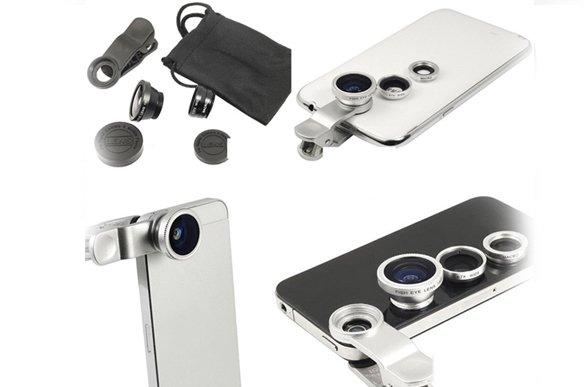 Lens chụp ảnh 3 trong 1 cho smartphone