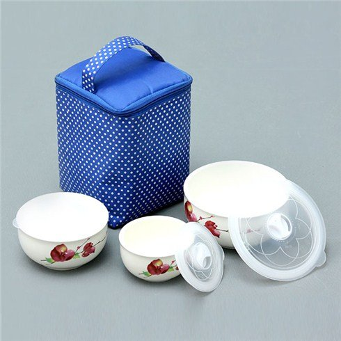 Bộ 3 thố dùng lò vi sóng và túi giữ nhiệt